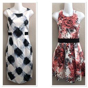 Lot Of 2 Karen Millen Sleeveless Dresses Sz:8